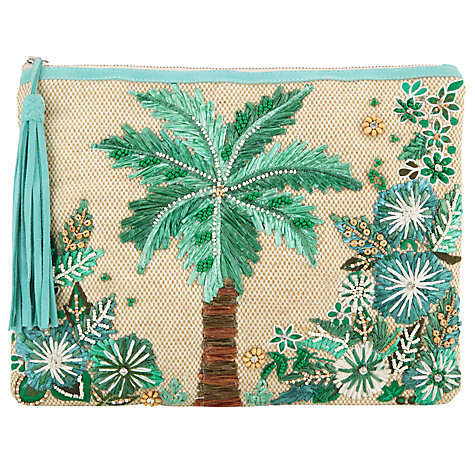 Star Mela Tiki Clutch Bag, Natural £60 Click to visit John Lewis