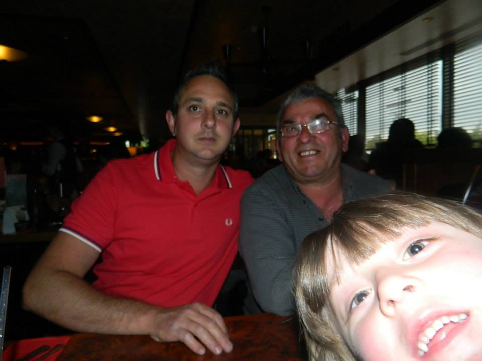 Best photo bomb ever - with my dad and Joe.