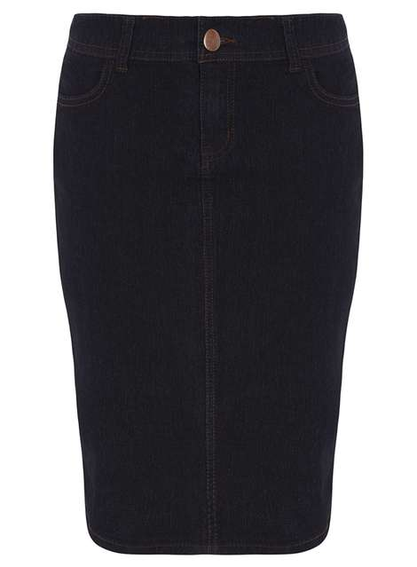 Indigo Denim Pencil Skirt Price: £15.00 Click to visit Dorothy Perkins