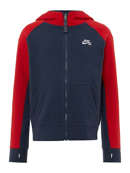 Nike Boys Contrast Sleeve Zip Through Hooded Sweater £40 Click to visit House of Fraser