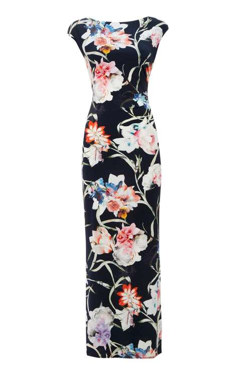 Floral Stretch Jersey Maxi Price: £55.00 Click to visit Wallis