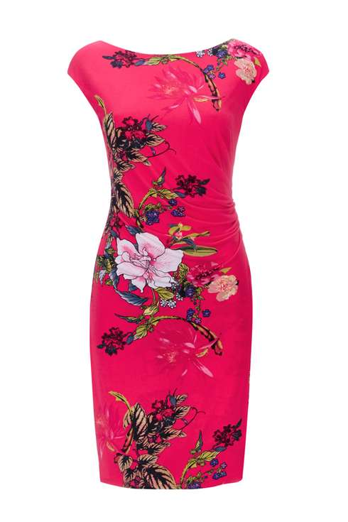 Pink Oriental Floral Printed Dress Price: £45.00 Click to visit Wallis
