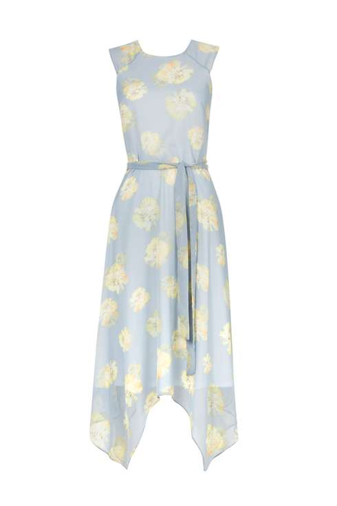 Light Blue Floral Sheer Dress Price: £48.00 Click to visit Wallis