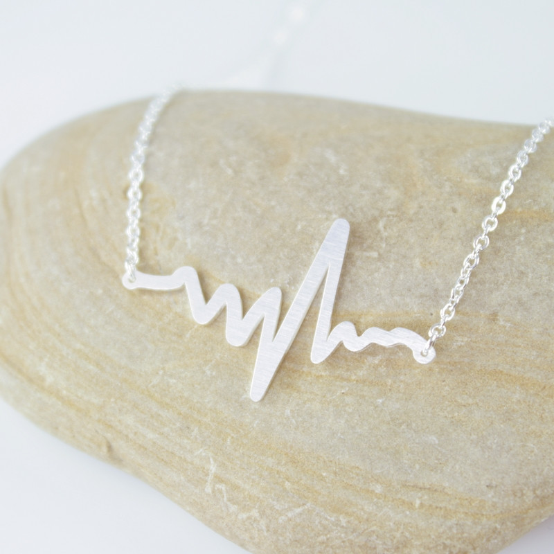 Cardiogram Heart Beat Necklace £9.99 Click to visit Corbico
