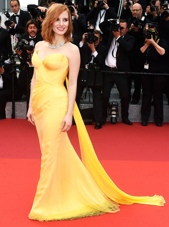 Mandatory Credit: Photo by David Fisher/REX/Shutterstock (5682155cm) Jessica Chastain 'Cafe Society' premiere and opening ceremony, 69th Cannes Film Festival, France - 11 May 2016