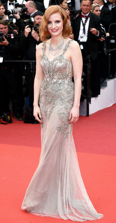 Mandatory Credit: Photo by David Fisher/REX/Shutterstock (5682983al) Jessica Chastain 'Money Monster' premiere, 69th Cannes Film Festival, France - 12 May 2016