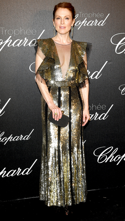 CANNES, FRANCE - MAY 12: Julianne Moore attends the Chopard Trophy Ceremony during The 69th Annual Cannes Film Festival on May 12, 2016 in Cannes, (Photo by Venturelli/WireImage)