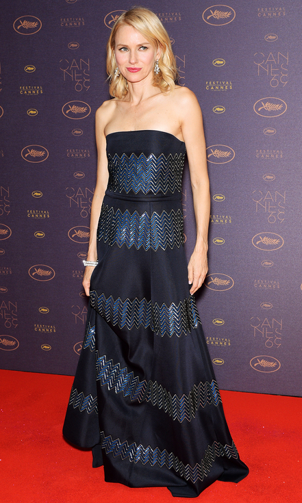 CANNES, FRANCE - MAY 11: Naomi Watts arrives at the Opening Gala Dinner during The 69th Annual Cannes Film Festival on May 11, 2016 in Cannes, France. (Photo by Dominique Charriau/WireImage)
