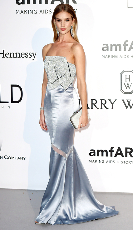 Mandatory Credit: Photo by David Fisher/REX/Shutterstock (5689674fe) Rosie Huntington-Whiteley amfAR's 23rd Cinema Against AIDS Gala, Arrivals, Cannes, France - 19 May 2016