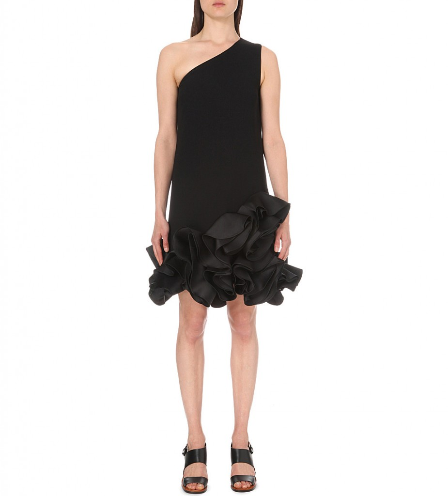 VICTORIA VICTORIA BECKHAM Ruffled satin dress £850.00 Click to visit Selfridges