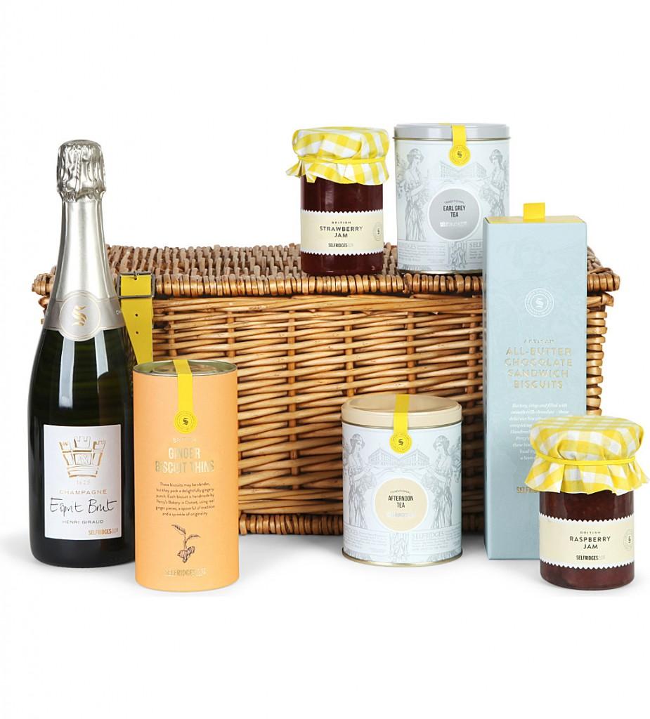 SELFRIDGES SELECTION Champagne & Afternoon Tea hamper £100.00 Click to visit Selfridges