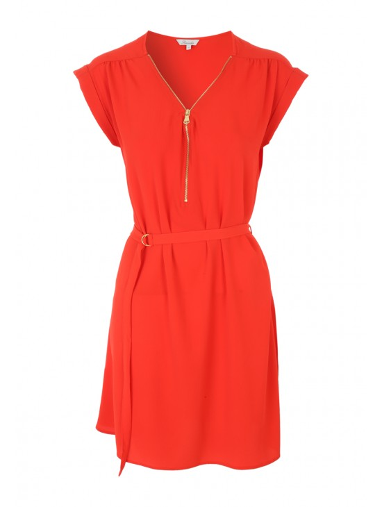 Womens Red Zip Front Tunic Dress £16.00 Click to visit Peacocks