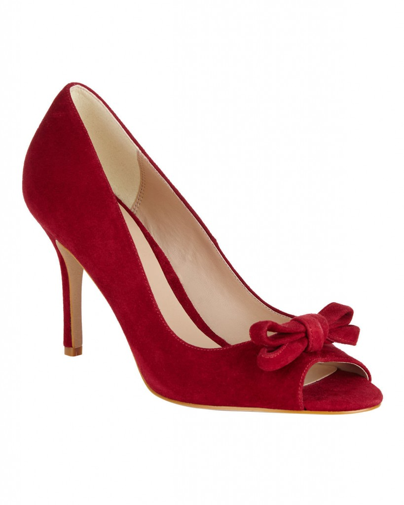 ELENA SUEDE PEEP TOE SHOES £99.00 Click to visit Phase Eight
