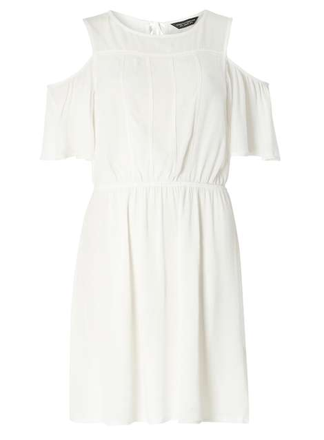 Cold Shoulder Lace Trim Dress Was £26.00 Now £12.00Click to visit Dorothy Perkins