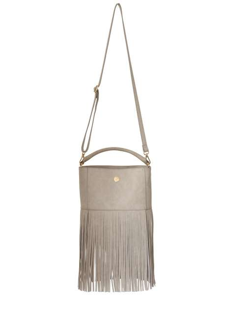 **Little Mistress Curve Grey Fringed Handbag Price: £36.00 Click to visit Dorothy Perkins