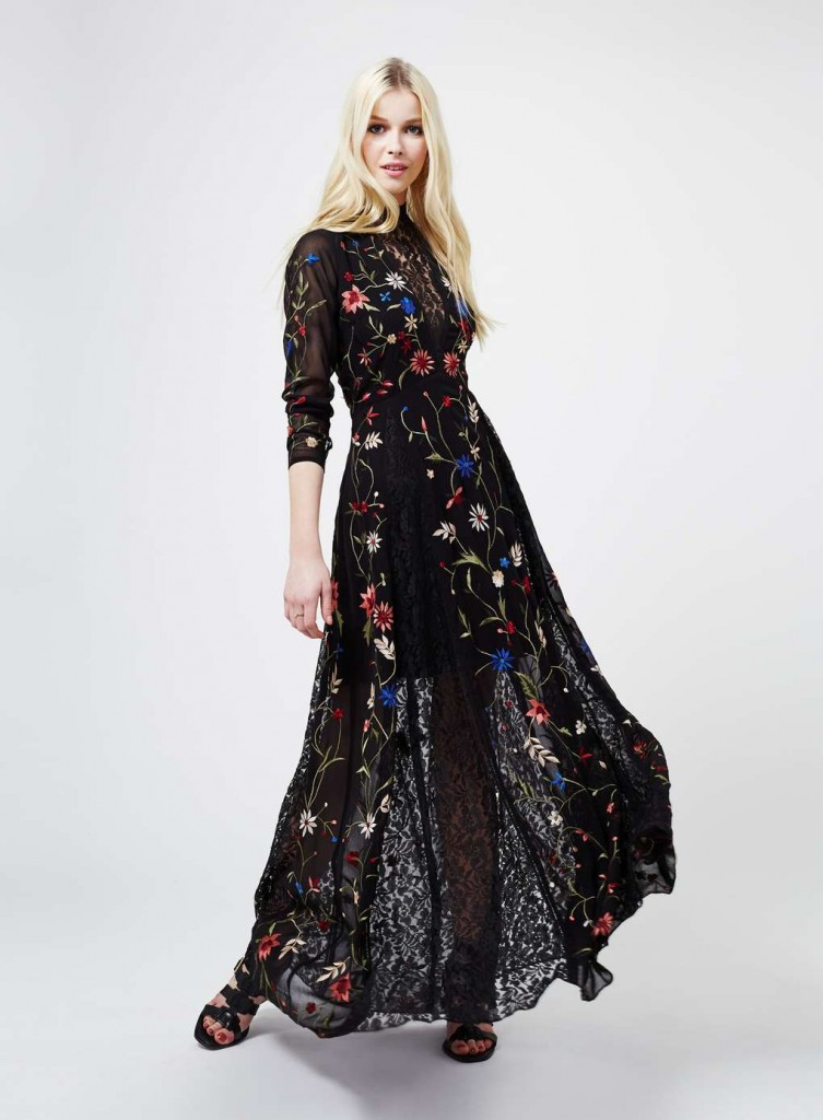 Black Embroidered Maxi Dress £99.00 Click to visit Miss Selfridge