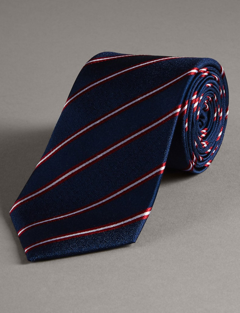 AUTOGRAPH Official England Pure Silk Striped Tie £19.50 Click to visit M&S