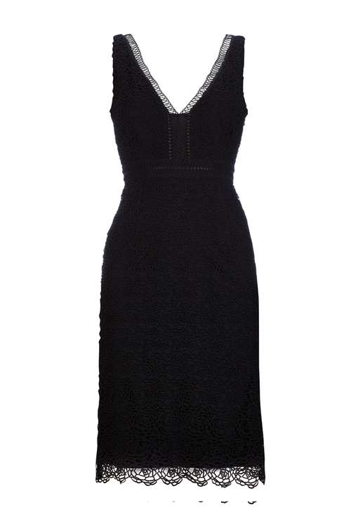 Sapphire Black V-Neck Lace Dress Price: £70.00 Click to visit Wallis