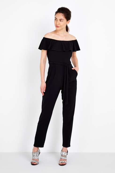 Black Bardot Stretch Jumpsuit Price: £40.00 Click to visit Wallis