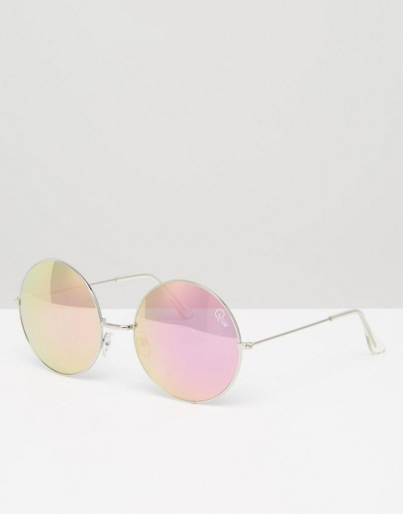 Quay Australia Round Sunglasses With Rose Mirror Lens RRP £35.00 £15.00 Click to visit ASOS