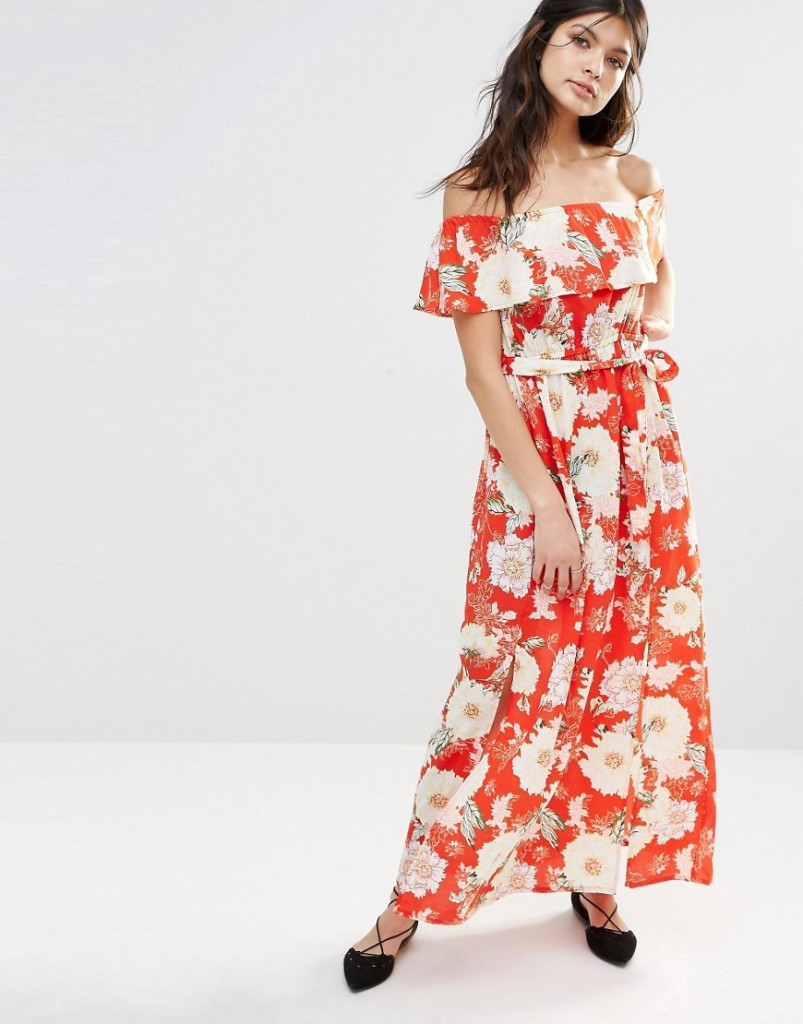 River Island Bardot Floral Maxi Dress £35.00 Click to visit ASOS