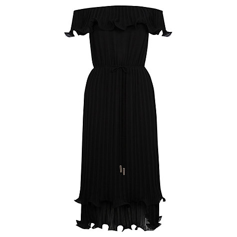 Oasis Ruffle Bardot Midi Dress now £40 Click to visit Oasis