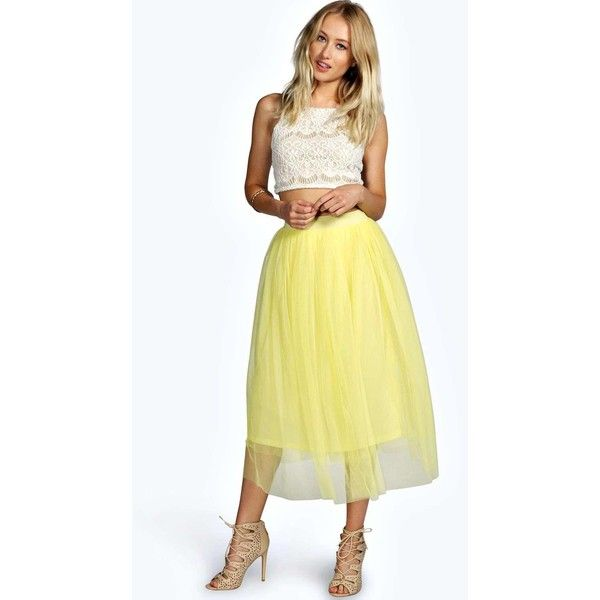 Boutique Tallulah Tulle Mesh Full Circle Midi Skirt £20 Click to visit Boohoo