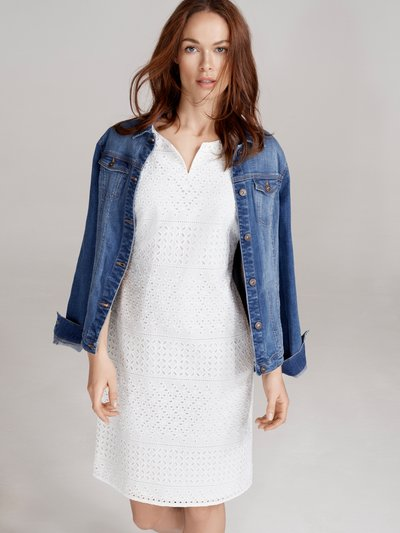 Sleeveless broderie shift dress Details http://www.mandco.com/sleeveless-broderie-shift-dress-white/1215299.html Product Number: 1215299 Colour: WHITE £18.00 - £26.00 Click to visit M&Co