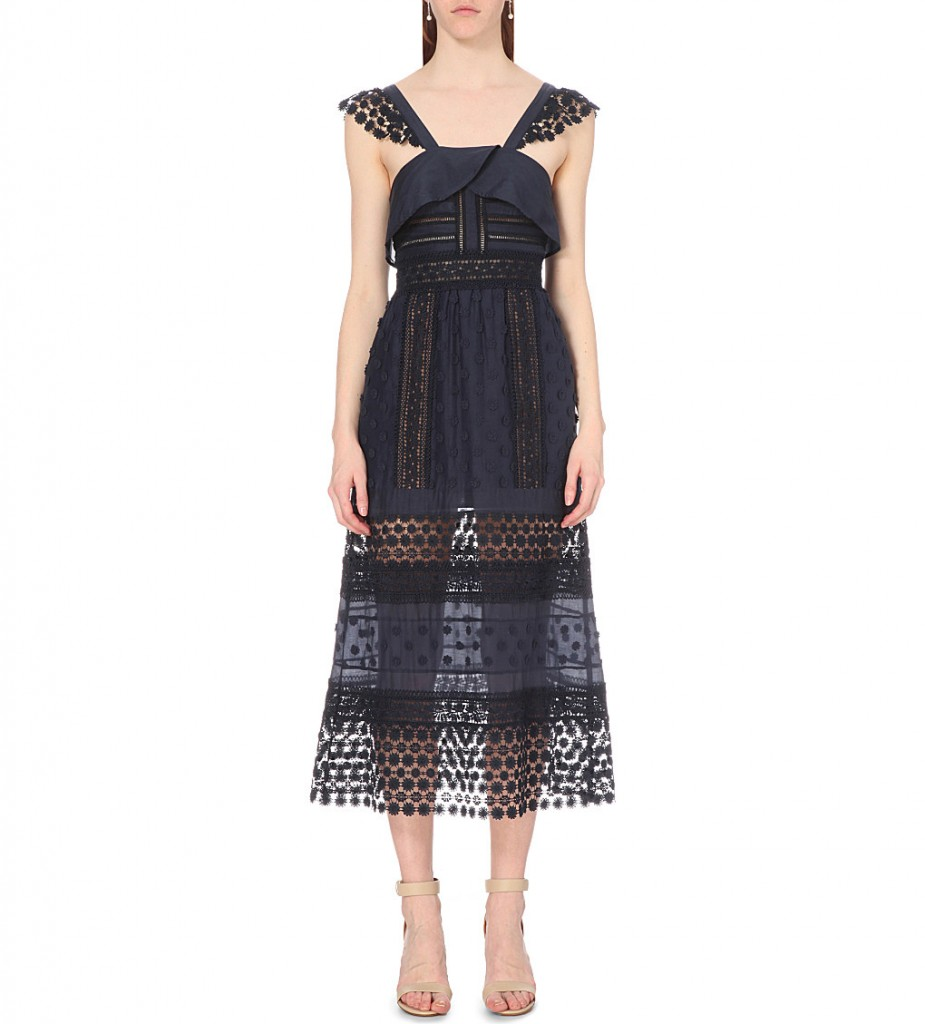 SELF-PORTRAIT Bluebell lace midi dress £300.00 Click to visit Selfridges