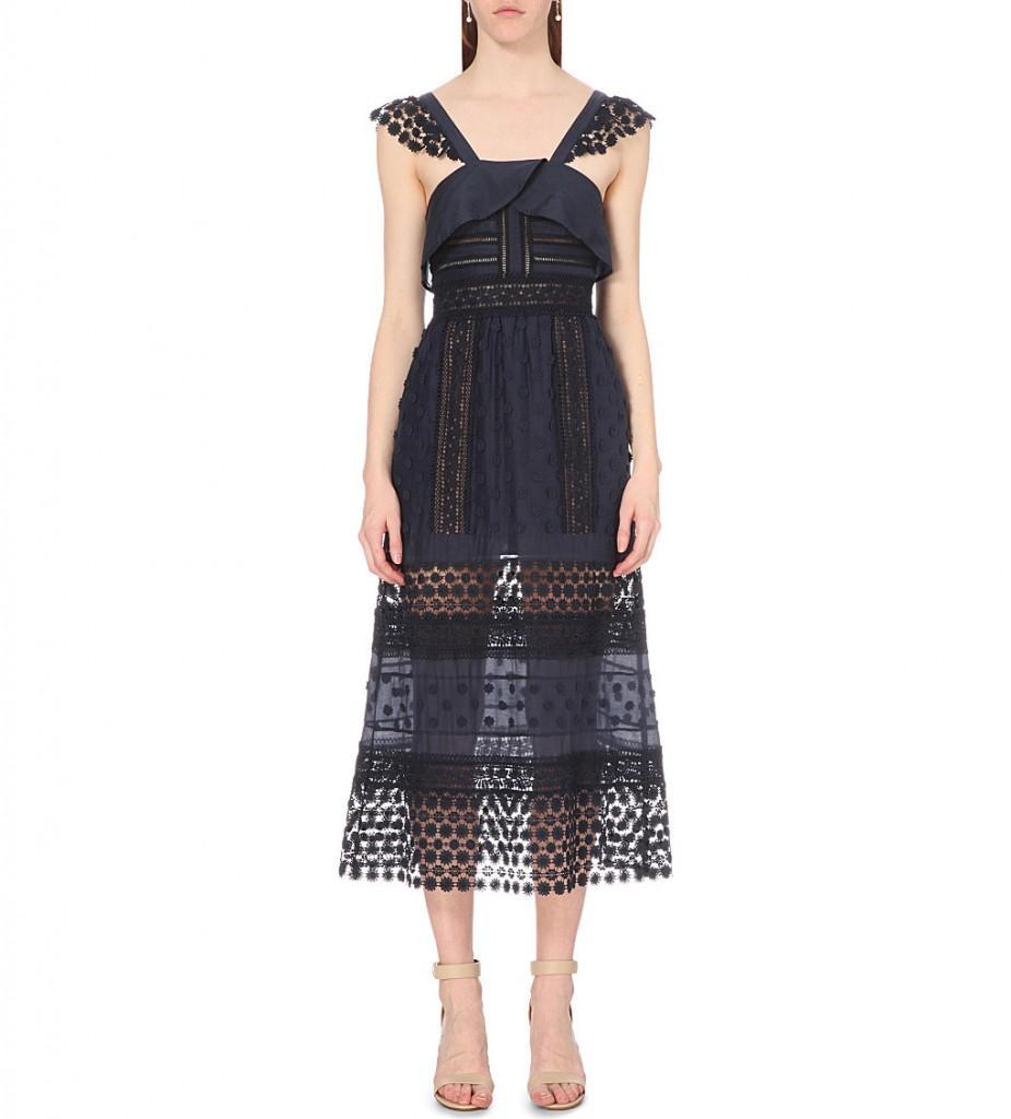 SELF-PORTRAIT Bluebell lace midi dress £300.00 Click to visit Selfridges