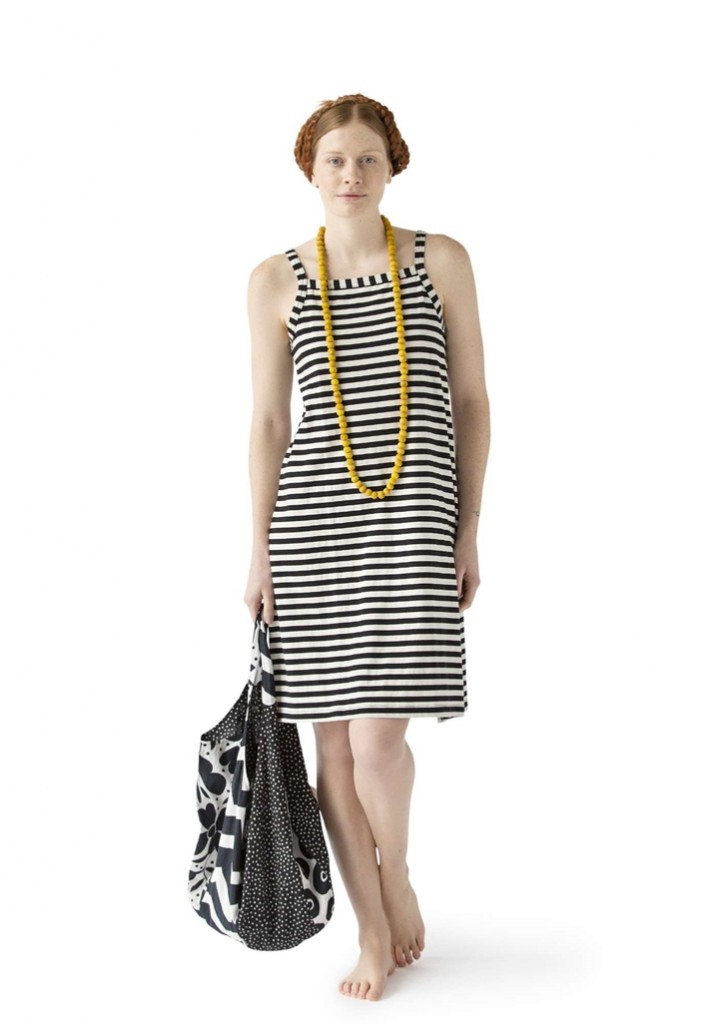 Short dress in eco cotton and elastane now £48 click to visit Gudrun Sjoden