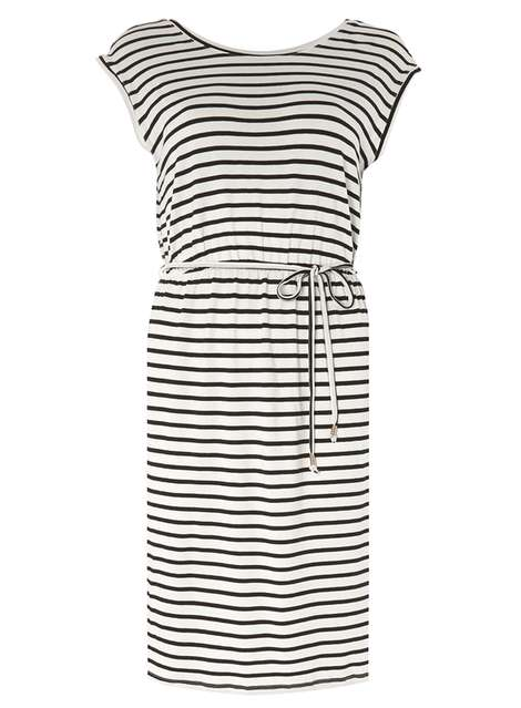 Black and white stripe midi dress Was £18.00 Now £9.00Click to visit Dorothy Perkins
