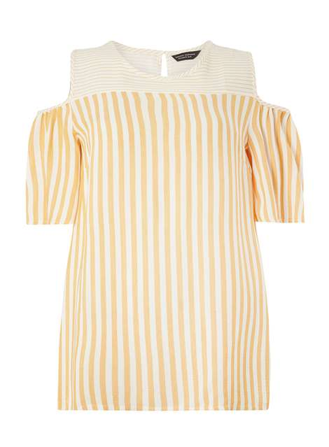 Mix Striped Cold Shoulder Top Price: £22.00 Click to visit Dorothy Perkins