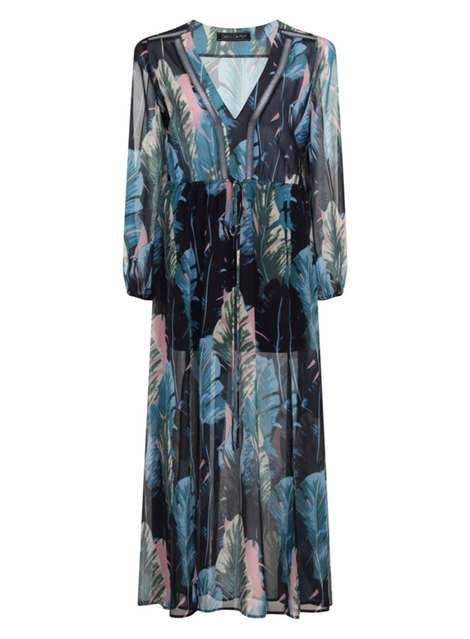 **Girls On Film Blue Print Maxi Dress Price: £50.00 Click to visit Dorothy Perkins