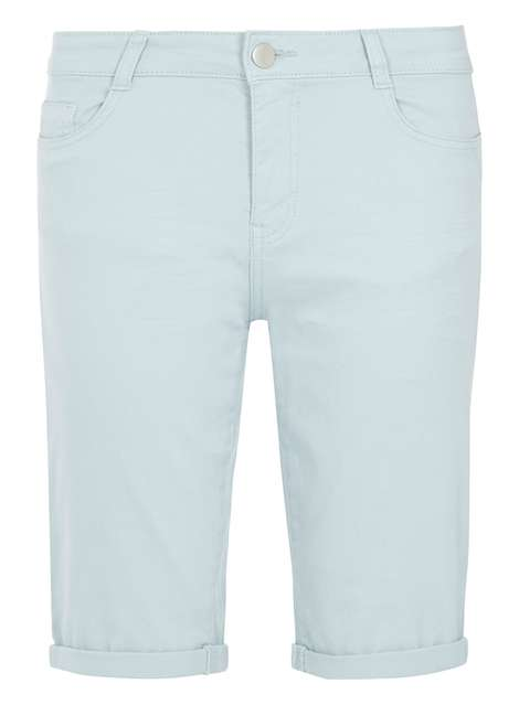 Pale Blue Denim Knee Shorts Was £22.00 Now £17.60 Click to visit Dorothy Perkins
