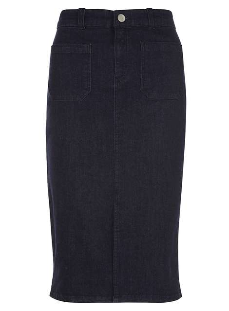 Indigo Patch Pocket Denim Skirt Was £24.00 Now £14.40Click to visit Dorothy Perkins