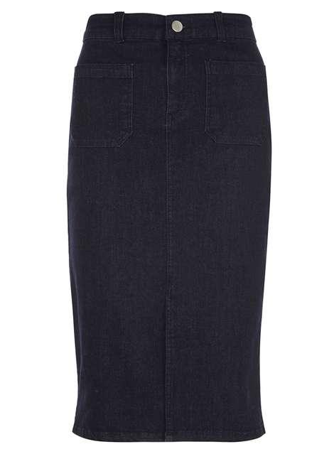 Indigo Patch Pocket Denim Skirt Was £24.00 Now £14.40Click to visit Dorothy Perkins