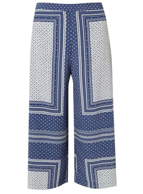 Petite Scarf Print Crop Trousers Price: £28.00 Click to visit Dorothy Perkins