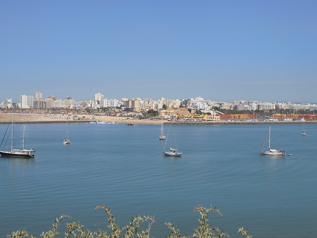 View across to Praia De Rocha