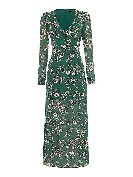 Bardot Long Sleeved Flora Maxi Cut Out Back Dress now £30.50 Click to visit House of Fraser