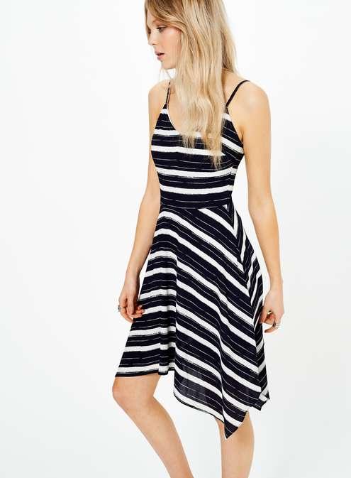 Stripe Hanky Hem Dress £39.00 Click to visit Miss Selfridge