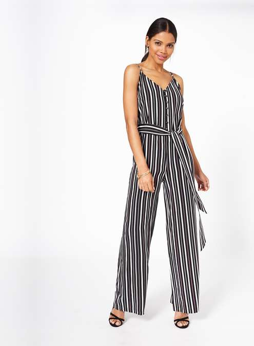 Stripe Button Front Jumpsuit £45.00 Click to visit Miss Selfridge