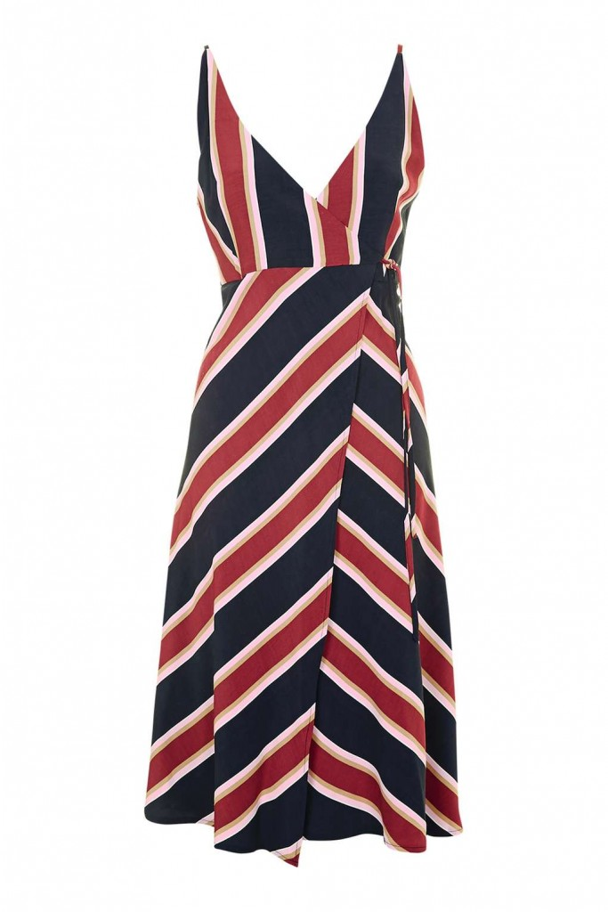 Stripe Wrap Slip Dress £39.00 Click to visit Topshop
