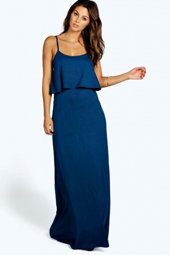 Boohoo Basics Clara Tie Back Maxi Dress £15 Click to visit Boohoo