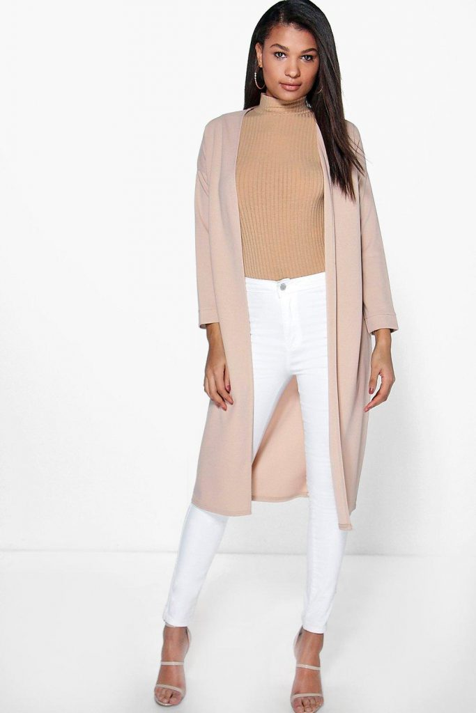 Boohoo Charlotte Collarless Duster £18.00 Click to visit Boohoo