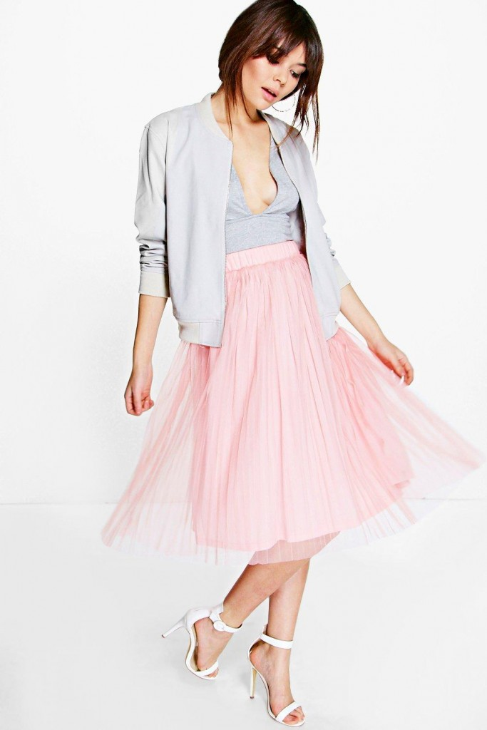 Madison Boutique Pleated Tulle Midi Skirt £18 Click to visit Boohoo