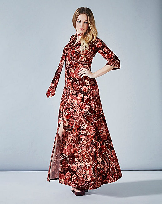 Simply Be Paisley Print Maxi Dress now £25 Click to visit Simply Be