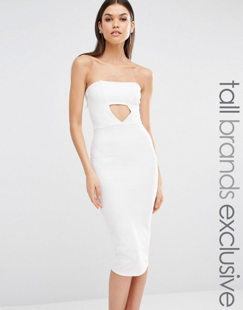 Missguided Tall Exclusive Cut Out Bandeau Midi Dress £18.00 Click to visit ASOS