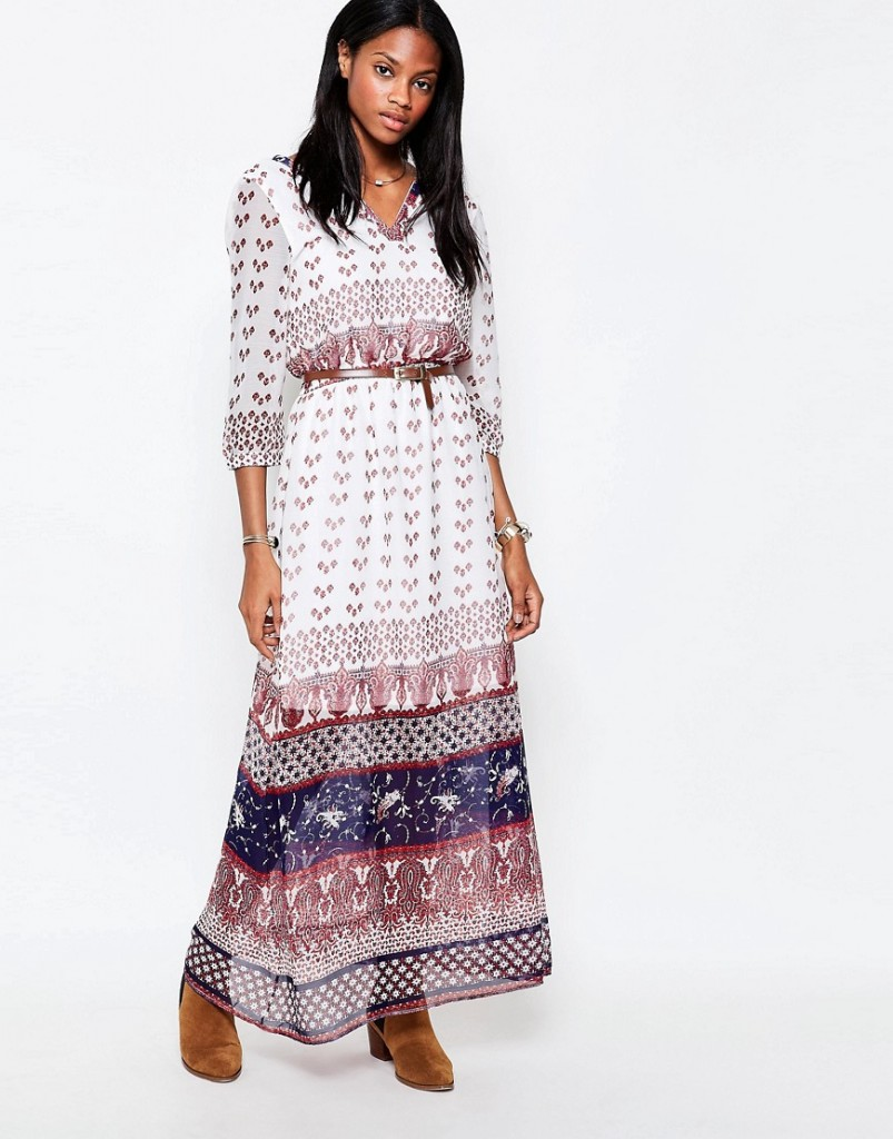 Only 3/4 Sleeve Boho Maxi Dress RRP £32.00 £28.00 Click to visit ASOS
