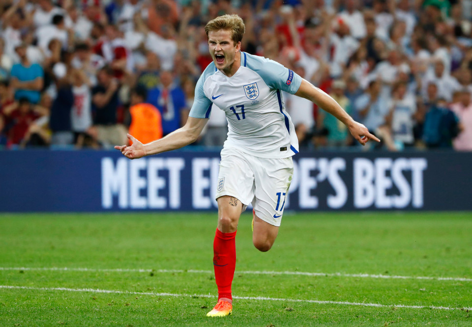 Football Soccer - England v Russia - EURO 2016 - Group B - Stade V¿lodrome, Marseille, France - 11/6/16 England's Eric Dier celebrates after scoring their first goal REUTERS/Eddie Keogh Livepic